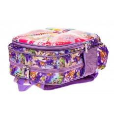 На фото 3 - Детский рюкзак из текстиля с ярким принтом, цвет фиолетовый