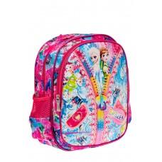 На фото 1 - Детский рюкзак из текстиля с ярким принтом, цвет розовый