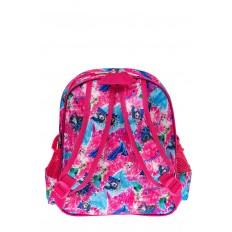 На фото 2 - Детский рюкзак из текстиля с ярким принтом, цвет розовый