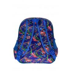На фото 2 - Детский рюкзак из текстиля с ярким принтом, цвет синий