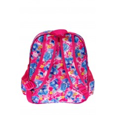 На фото 2 - Детский рюкзак из текстиля с ярким принтом, цвет малиновый