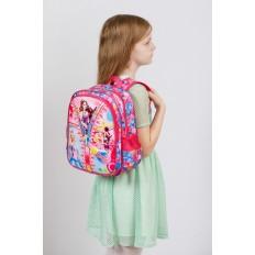 На фото 4 - Детский рюкзак из текстиля с ярким принтом, цвет малиновый