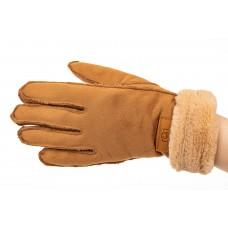 На фото 1 - Кроеные утепленные перчатки женские из велюра, цвет рыжий