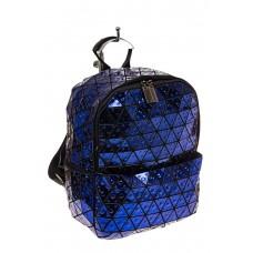 На фото 1 - Рюкзак с 3D эффектом из искусственной кожи, цвет синий
