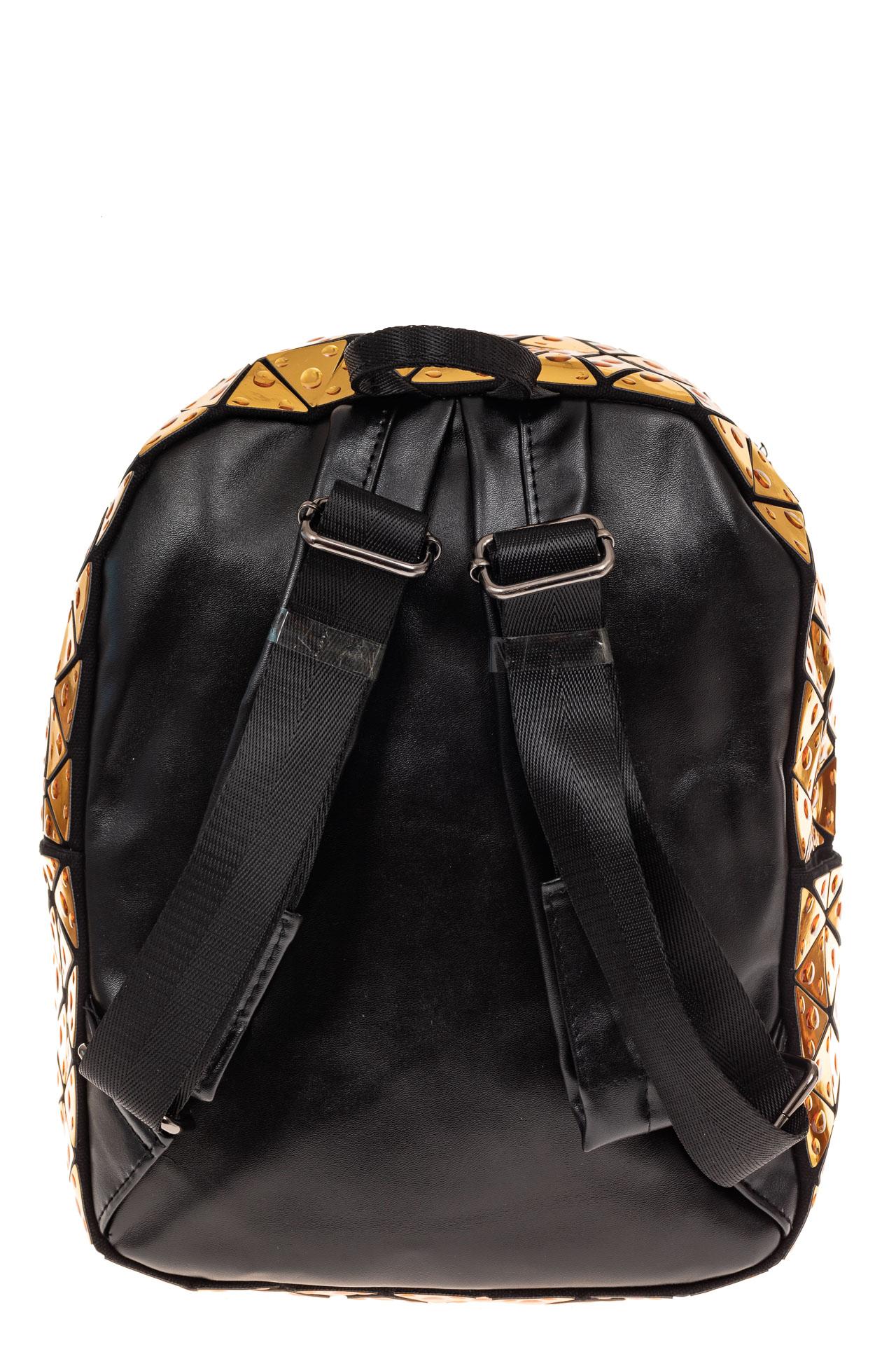На фото 2 - Рюкзак с 3D эффектом из искусственной кожи, цвет золото