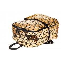 На фото 3 - Рюкзак с 3D эффектом из искусственной кожи, цвет золото