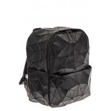На фото 1 - Рюкзак с 3D эффектом из искусственной кожи, цвет черный