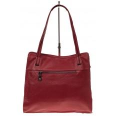 На фото 3 - Женская сумка шоппер из натуральной кожи, цвет красный