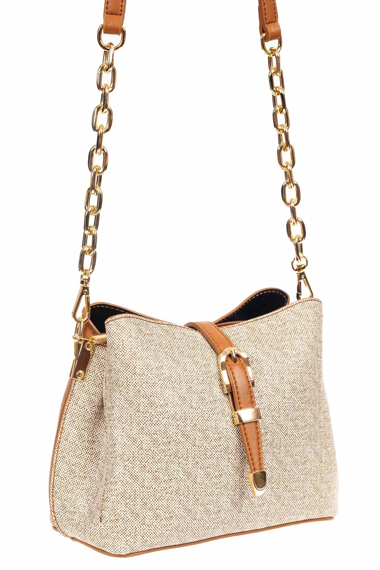 Небольшая сумка кросс-боди из кожзама, цвет бежевый20015PJ0420/10