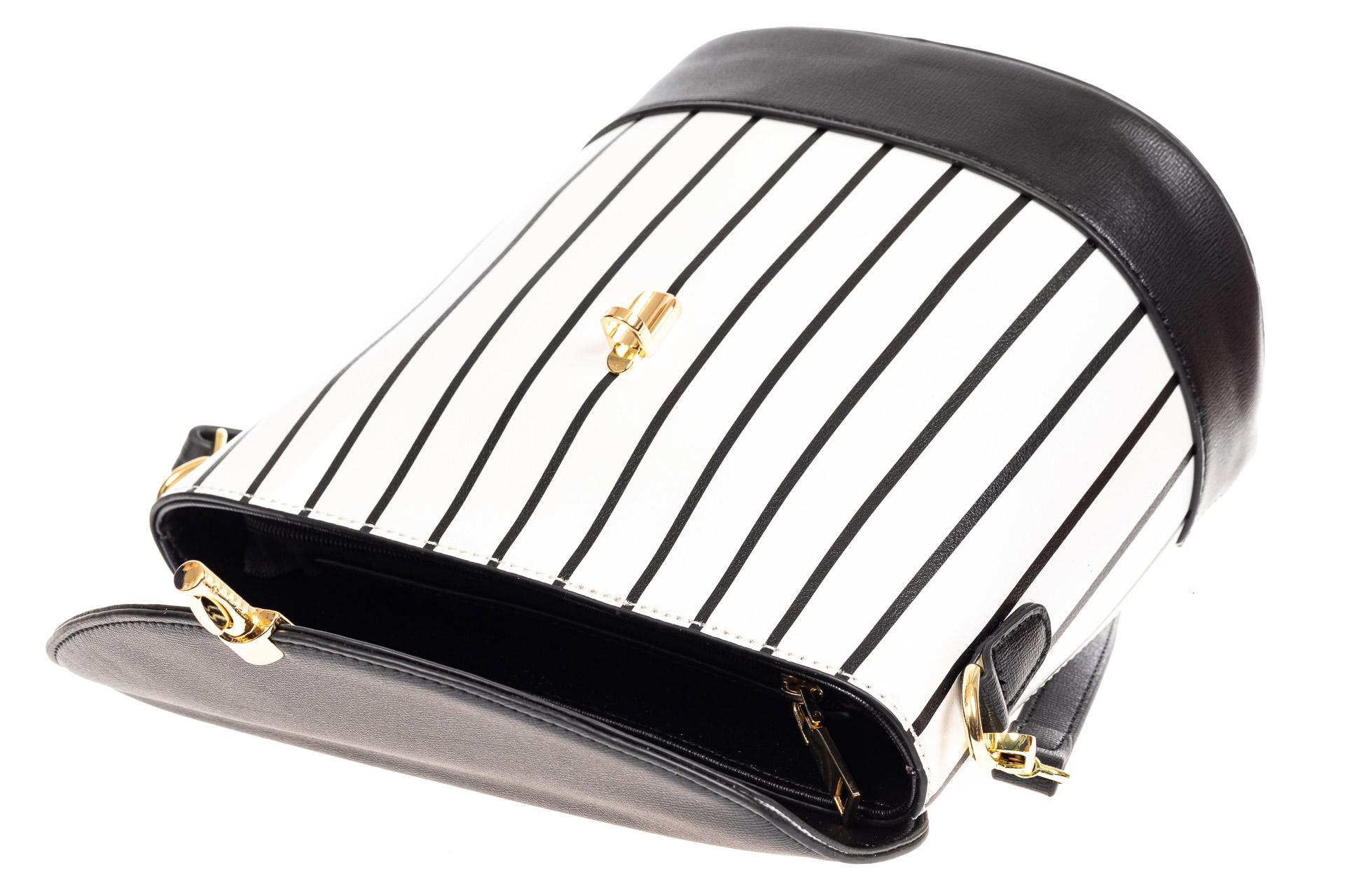 На фото 4 - Женская сумка из кожзама сумка с клапаном, цвет черный