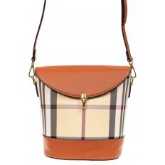 На фото 2 - Женская сумка из кожзама сумка с клапаном, цвет рыжий