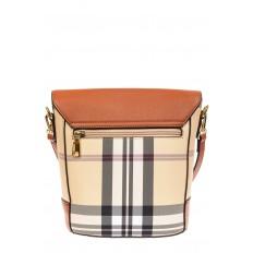 На фото 3 - Женская сумка из кожзама сумка с клапаном, цвет рыжий