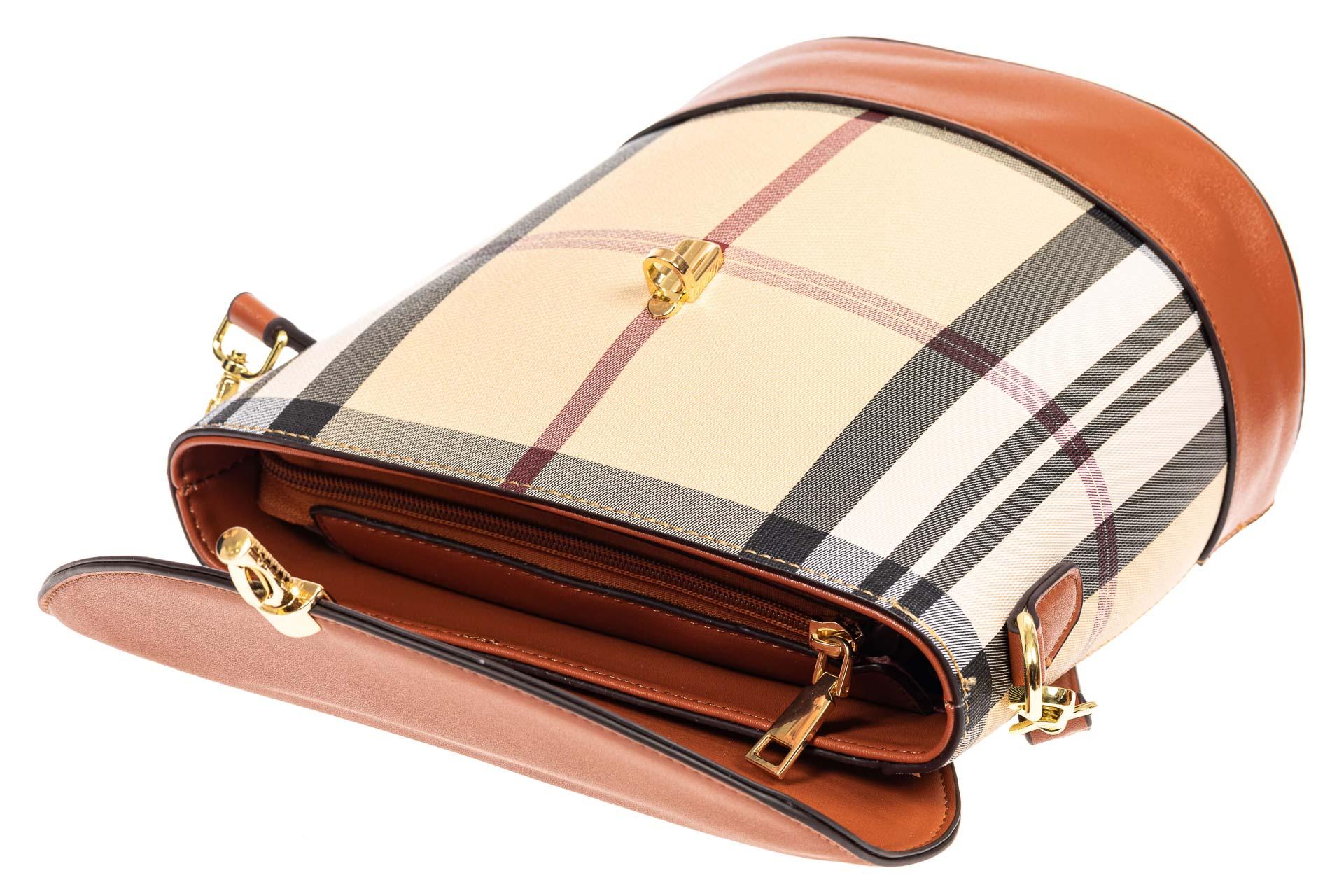 На фото 4 - Женская сумка из кожзама сумка с клапаном, цвет рыжий