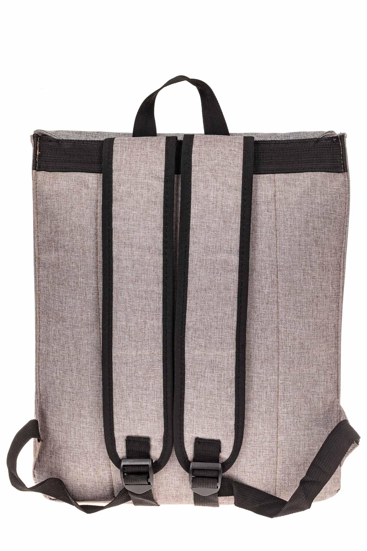На фото 3 - Мужской рюкзак с клапаном, цвет серый