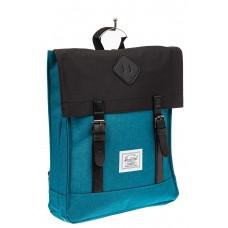 На фото 1 - Мужской рюкзак с клапаном, цвет бирюзовый