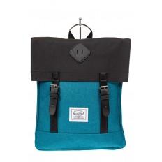 На фото 2 - Мужской рюкзак с клапаном, цвет бирюзовый