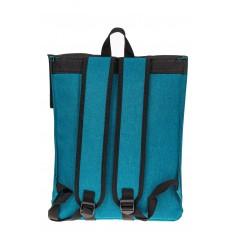 На фото 3 - Мужской рюкзак с клапаном, цвет бирюзовый