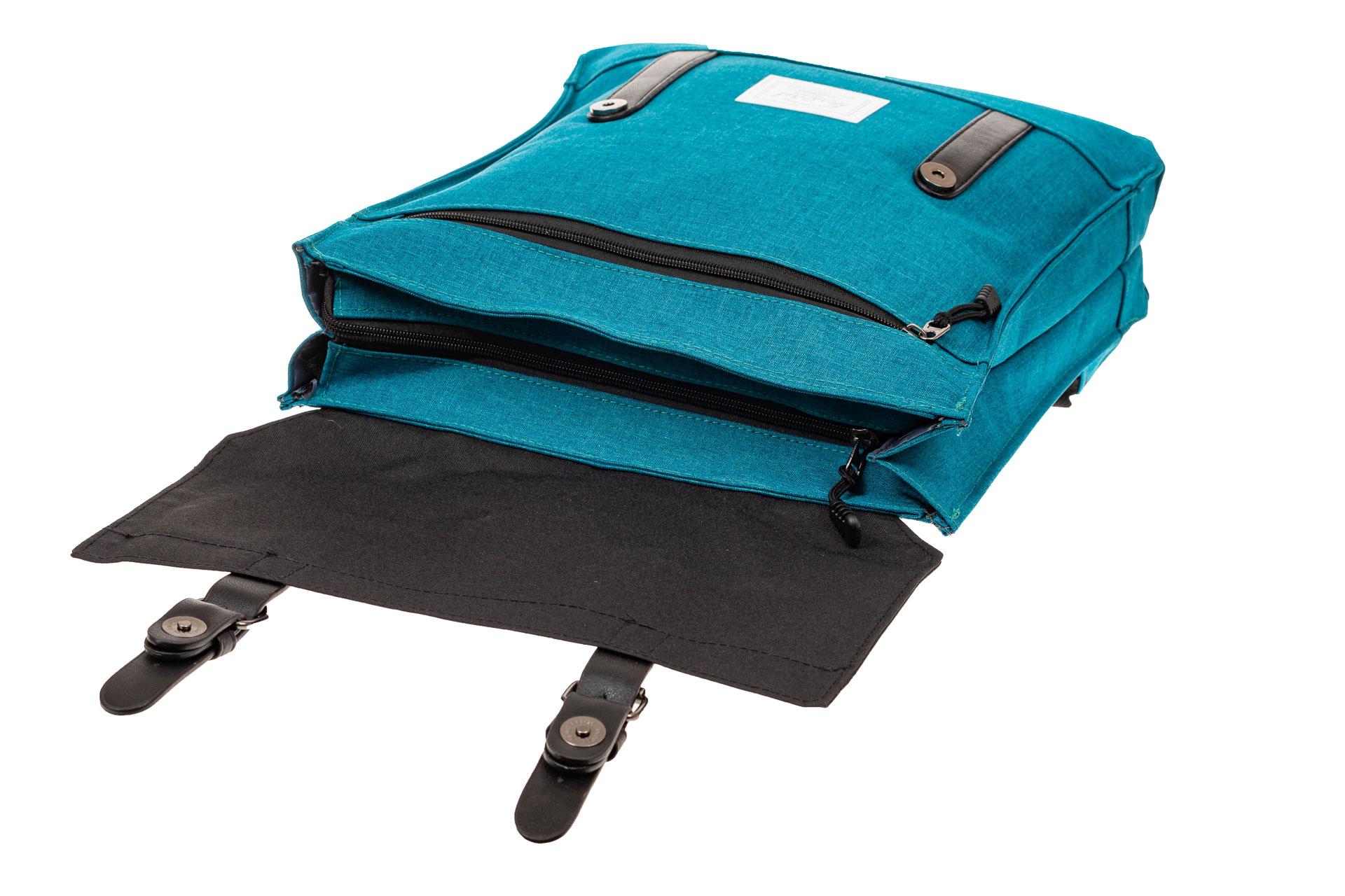 На фото 4 - Мужской рюкзак с клапаном, цвет бирюзовый