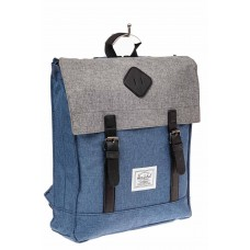 На фото 1 - Мужской рюкзак с клапаном, цвет голубой