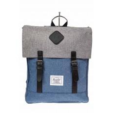 На фото 2 - Мужской рюкзак с клапаном, цвет голубой