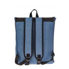 На фото 3 - Мужской рюкзак с клапаном, цвет голубой