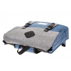 На фото 4 - Мужской рюкзак с клапаном, цвет голубой