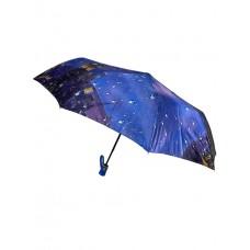 На фото 1 - Женский зонт полуавтомат с принтом