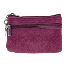 На фото 1 - Женская ключница из натуральной кожи, цвет фиолетовый
