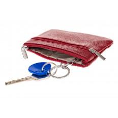 На фото 2 - Женская ключница из натуральной кожи, цвет бордовый
