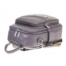 На фото 3 - Стильный женский рюкзак из натуральной кожи, цвет серый