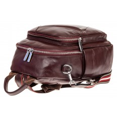На фото 3 - Стильный женский рюкзак из натуральной кожи, цвет кофе
