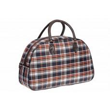На фото 1 - Дорожная сумка из ткани и кожзама, цвет серый