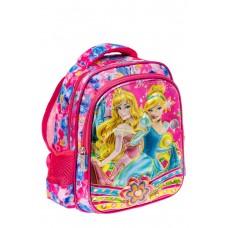 На фото 1 - Небольшой школьный рюкзак из текстиля, цвет фуксия