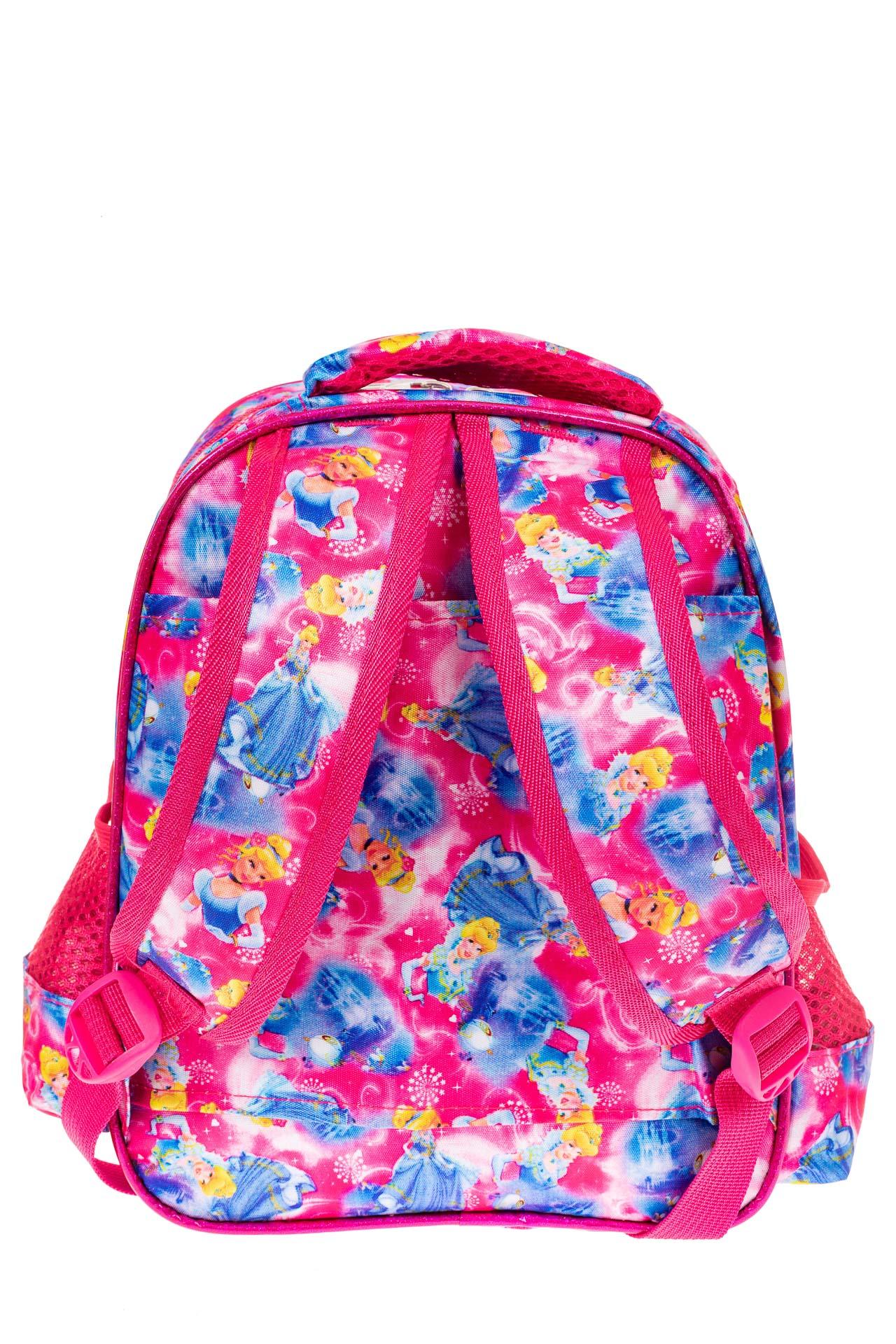 На фото 2 - Небольшой школьный рюкзак из текстиля, цвет фуксия