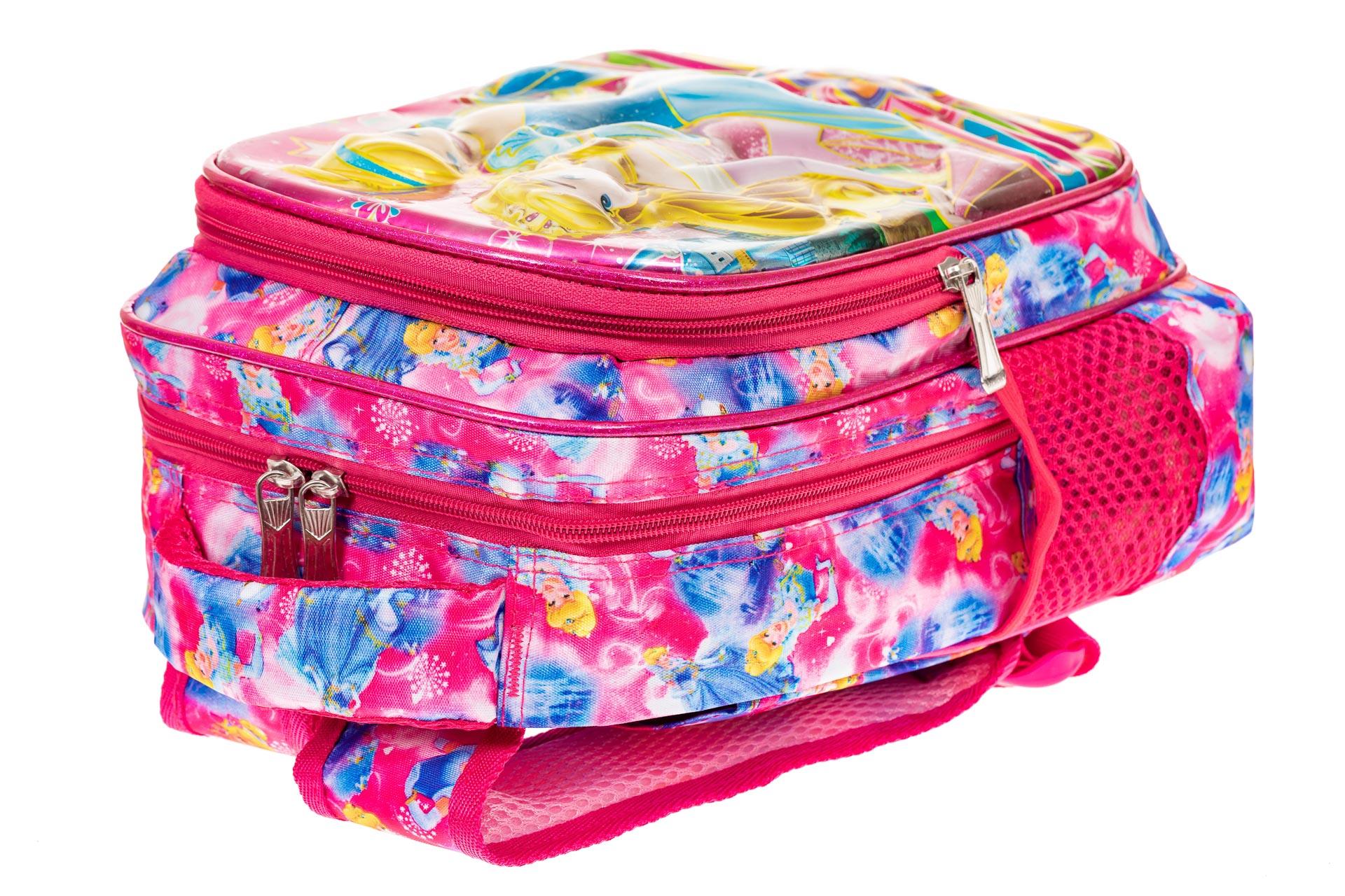 На фото 3 - Небольшой школьный рюкзак из текстиля, цвет фуксия
