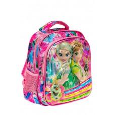 На фото 1 - Небольшой школьный рюкзак из текстиля, цвет розовый