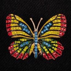На фото 2 - Кольцо с украшением в виде бабочки