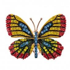 На фото 1 - Кольцо с украшением в виде бабочки