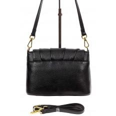 На фото 3 - Маленькая женская сумка с замком-вертушкой, цвет чёрный