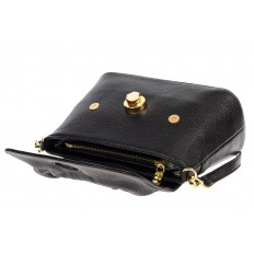 На фото 4 - Маленькая женская сумка с замком-вертушкой, цвет чёрный