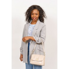На фото 5 - Маленькая женская сумка с замком-вертушкой, цвет чёрный