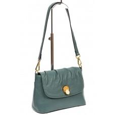 На фото 1 - Маленькая женская сумка с замком-вертушкой, цвет бирюзовый