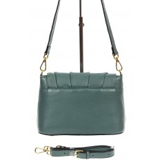 На фото 3 - Маленькая женская сумка с замком-вертушкой, цвет бирюзовый