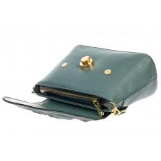 На фото 4 - Маленькая женская сумка с замком-вертушкой, цвет бирюзовый
