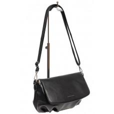 На фото 1 - Женская сумка-седло из искусственной кожи, цвет чёрный