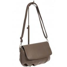 На фото 1 - Женская сумка-седло из искусственной кожи, цвет серый