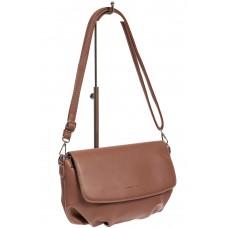 На фото 1 - Женская сумка-седло из искусственной кожи, цвет розовый