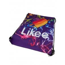 На фото 1 - Мешок для школьной обуви с ярким принтом, цвет фиолетовый