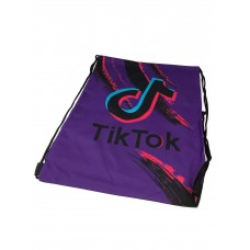 На фото 1 - Мешок для сменной обуви с принтом, цвет фиолетовый