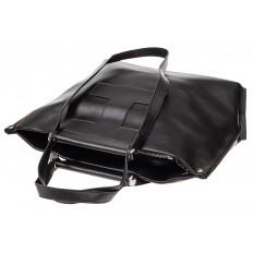 На фото 4 - Женская сумка из натуральной кожи, цвет чёрный
